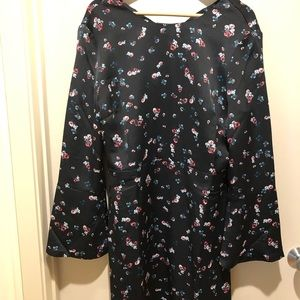 Banana Republic black floral dress XL